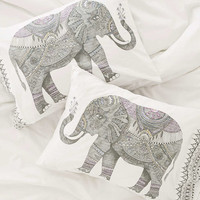 Magical Thinking Garden Elephant Pillowcase Set - Urban Outfitters