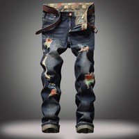 Color Swipe - Men's Ripped Jeans - Signature Design By Shawn Broadnax