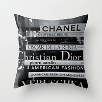 Fashion Books Throw Pillow by I Love Decor