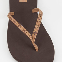 REEF Slim Ginger Leather Womens Sandals | Sandals