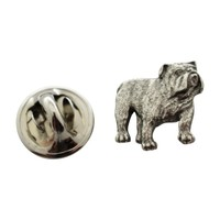 Bulldog Mini Pin ~ Antiqued Pewter ~ Miniature Lapel Pin
