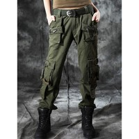 Army Green Baggy Cargo Pants