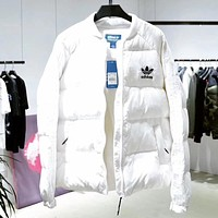 ADIDAS Woman Men Fashion Down Coat Jacket Coat Cardigan Windbreaker