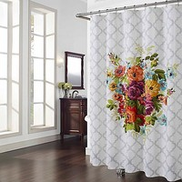 Melissa Multicolor Floral Shower Curtain
