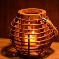 Vintage Weathered Handcrafts Wooden Candle Stand Decoration Home Decor [6282562630]