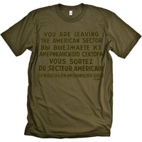 Checkpoint Charlie Cold War Sign T-shirt