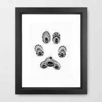 Cat Paw Print Framed Art Print by LouJah