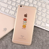 Cute Macaroon Donut Cover For iPhone 7 6 6s Plus 5 5s 5c 4 4s Soft Silicone Phone Case Soft Rubber Transparent Cases