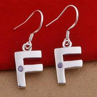 FENDI Popular Women Earrings  Metal Letters Earrings Stud Earrings