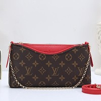 Louis Vuitton LV Women Fashion Leather Chain Crossbody Shoulder Bag Satchel
