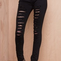 Let's Get Ripped Skinny Jeans Black   LASULA
