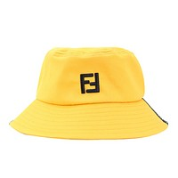 Fendi New fashion embroidery letter couple cap hat Yellow