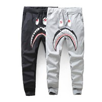 BAPE A BATHING APE SHARK SWEAT PANTS