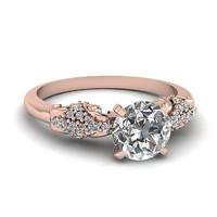 AMAZING 1.51CT ROUND SOLITAIRE STUD 925 STERLING SILVER ENGAGEMENT RING FOR HER