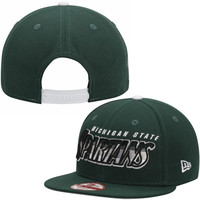 Michigan State Spartans New Era Transfade 9FIFTY Snapback Adjustable Hat – Green