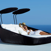 Garden daybed Savannah Collection by Cane-line | design Foersom & Hiort-Lorenzen