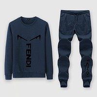 Fendi Fashion Casual Top Sweater Pullover Pants Trousers Set Two-Piece
