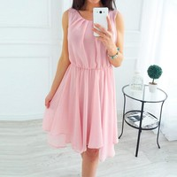 CALOFE Summer Beach Dresses Sleeveless Boho Dress Women  Bohomian Robe Femme Mini Sundress 2018