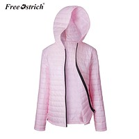 Free Ostrich Jacket Women Winter Hooded Zipper Long Sleeve Coats Solid Parkas Warm Clothes Women Jacket Dropshipping De12
