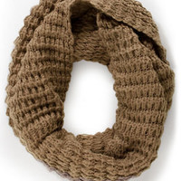 Weavin' Flow Taupe Infinity Scarf