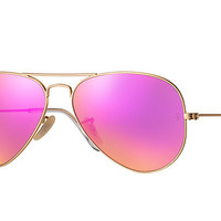 Ray Ban Aviator Matte Gold Pink Mirrored RB 3025 112/4T