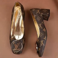 LV Louis Vuitton Fashion Ladies Fish mouth Heels Shoes