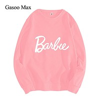 New Barbie Sweatshirts Women Autumn Winter Causal Women Hoodies Sweatshirts High Quality Harajuku Long Sleeve harajuku Pullovers