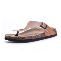 Casual Cork Mixed Color Slip On Sandals