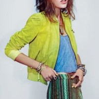 Ash Perforated Suede Jacket at Free People Clothing Boutique
