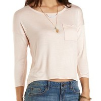 Embroidered-Back High-Low Tee by Charlotte Russe