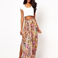 Oh My Love Maxi Skirt in Tall Flowers Print at asos.com