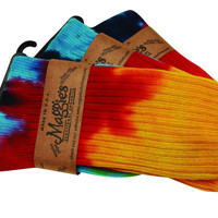 Maggie's Organics Socks - Organic Cotton - Crew - Tie Dye - Size 9 To 11 - 3 Pair