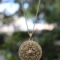 Chasing the Sun Medallion Necklace