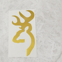 Small 1x3 Inch Buck Male Deer Silhouette Hunter's Graphic Permanent Vinyl Decal/Bumper Sticker