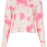 Knitted Tie Dye Crop Jumper - Knitwear - Clothing - Topshop USA