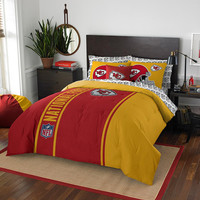 Kansas City Chiefs NFL Full Comforter Bed in a Bag (Soft & Cozy) (76in x 86in)