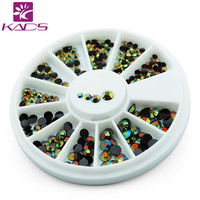 KADS NEW 600pcs Black Crystal AB Color 3D Nail Art Decorations Rhinestone for nail accessories for nail decoration