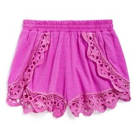 Girl's Flowers by Zoe Lace Trim Shorts,