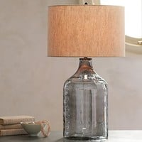 Alana Luster Glass Jug Table Lamp Base - Indigo