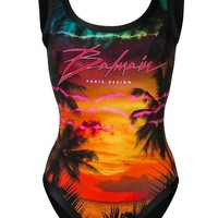Tropical Heat One-Piece Swimsuit by Balmain
