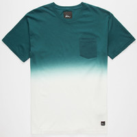 IMPERIAL MOTION Dip Dye Mens Pocket Tee | Solid & Stripe Tees