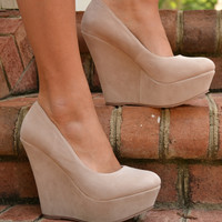 Dalila wedge, nude