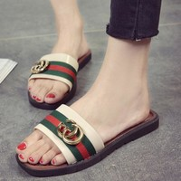 GUCCI summer hot sale women Casual sandals Slipper shoes