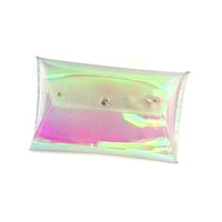 Clear clutch holographic transparent bag petrol clutch sparkly chameleon jelly bag nfl Clutch Bag Sparkly Clutch Bag Holo party bag 90's