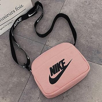 Nike AIR fashion men and women personality zipper shoulder messenger bag mobile phone bag cosmetic bag camera bag