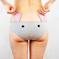 Panties with mouse face and ears lingerie underwear