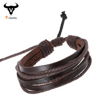 Hot Sale 2016 Summer Fashion Simple Style Bracelet Hemp Rope Braided Leather Chain Unisex Cuff Bracelets Couple Bracelet Jewelry