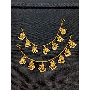 Jhumka dangling Single layer Earrings chain / Maatal / Kaan Chain