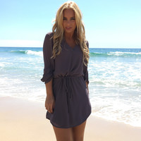 Well Rounded Tunic & Dress In Charcoal Grey