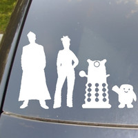 The Doctor's Family Car Sticker set of 4